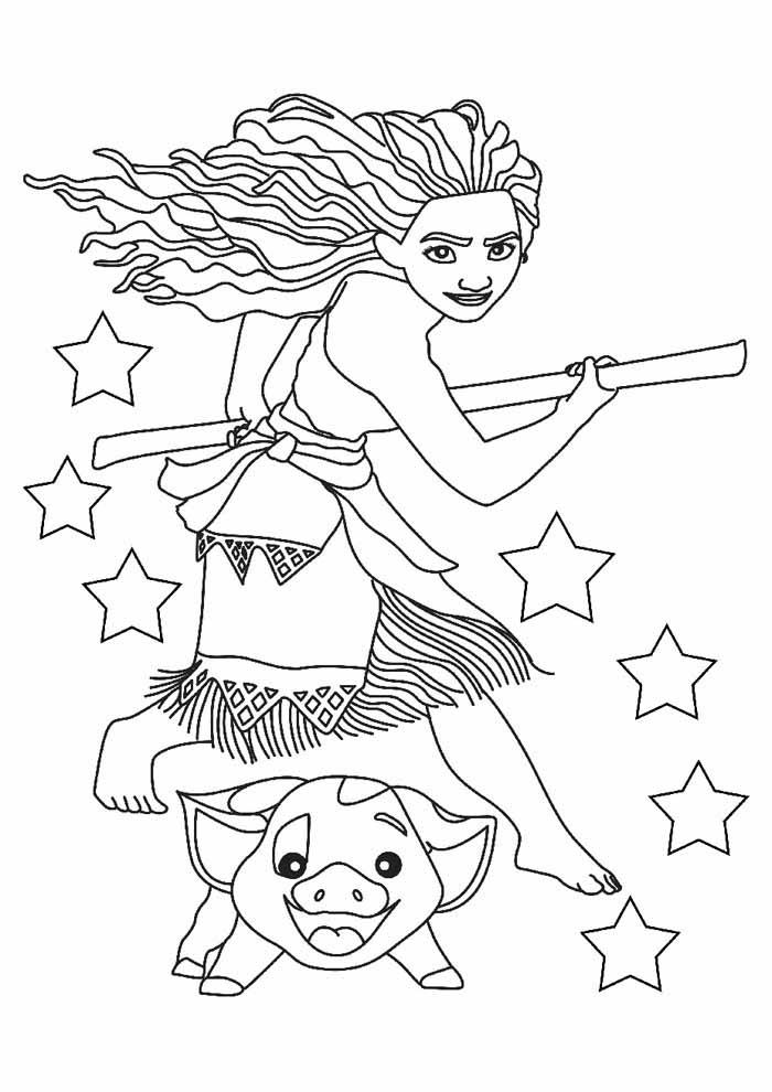 desenho disney para colorir moana 17