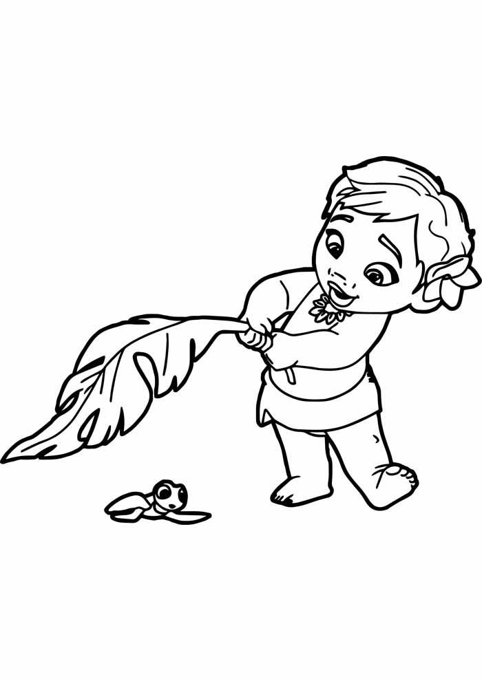desenho disney para colorir moana 27