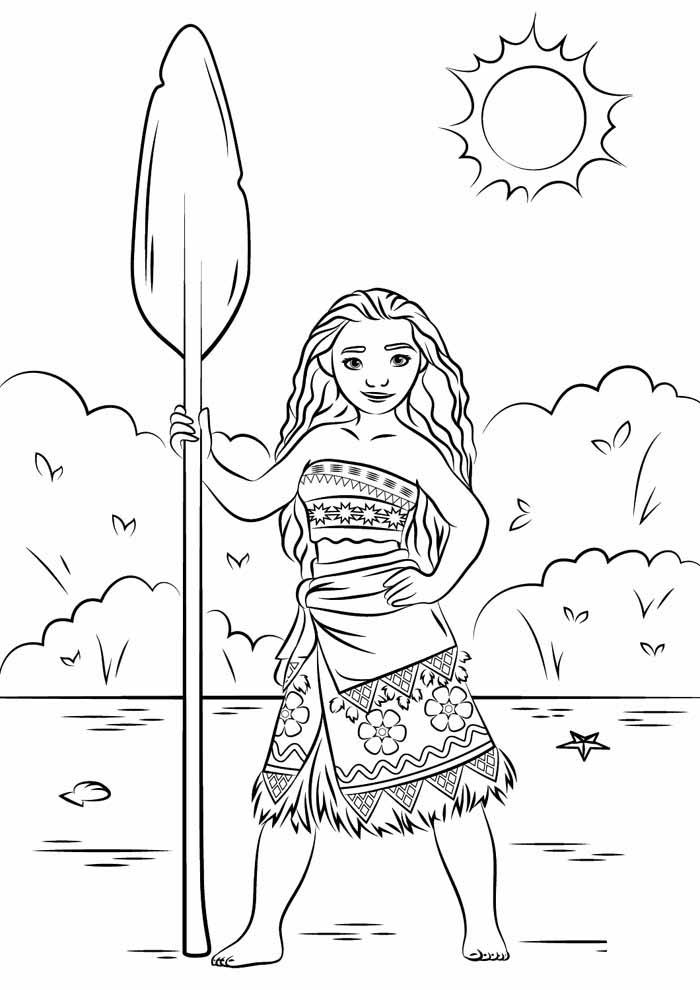 desenho disney para colorir moana 4