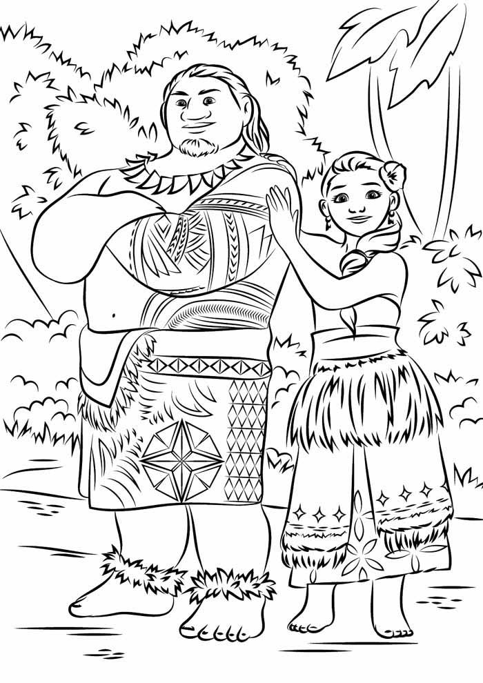 desenho disney para colorir moana 8