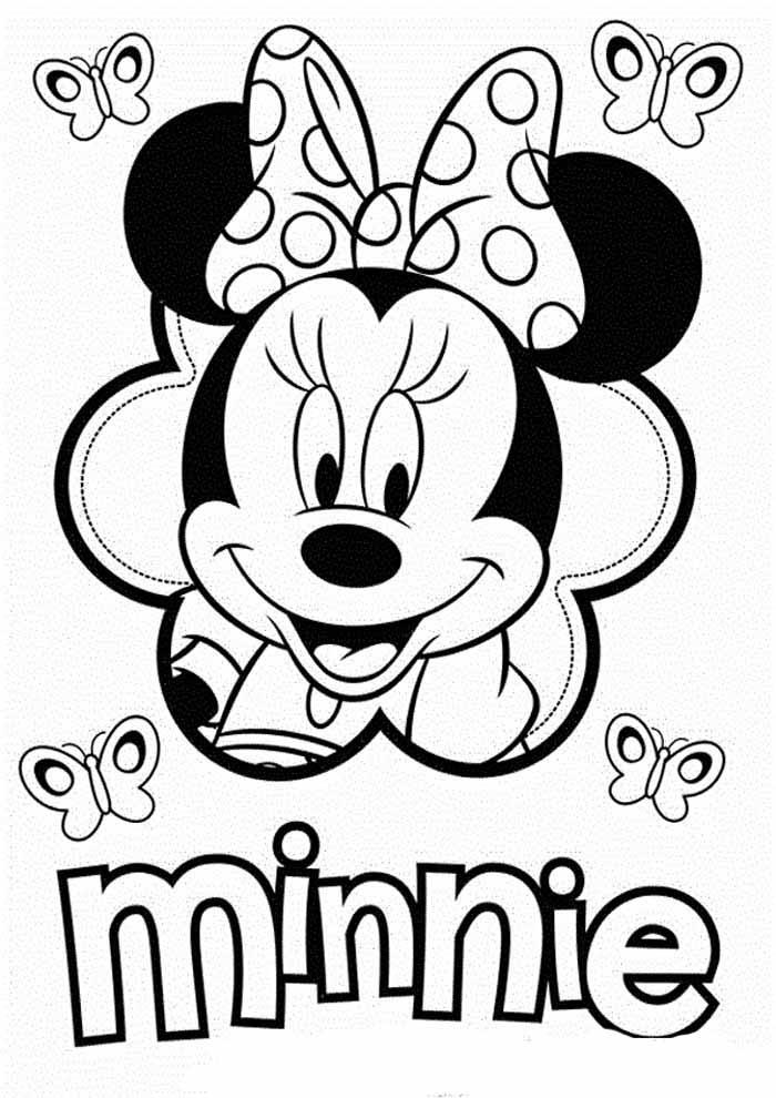 desenhos disney para colorir minnie 16