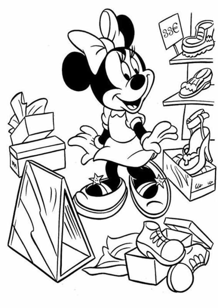desenhos disney para colorir minnie 30