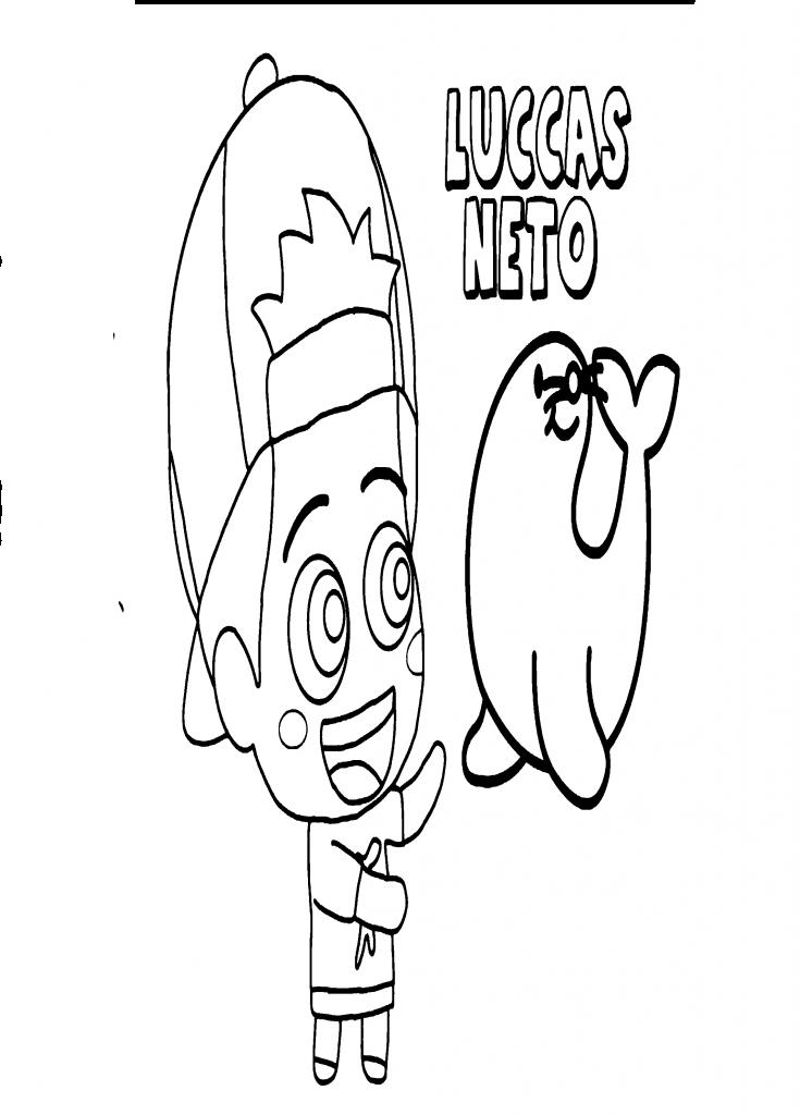 Desenho do Luccas Neto para colorir 4