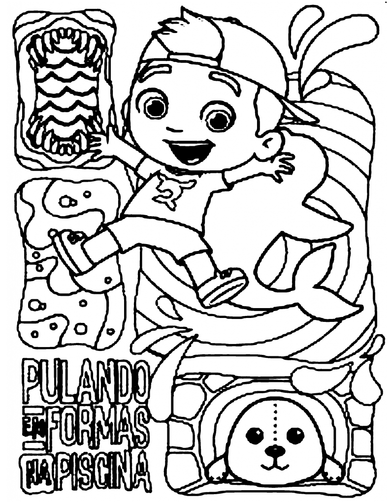 Desenho do Luccas Neto para colorir 6