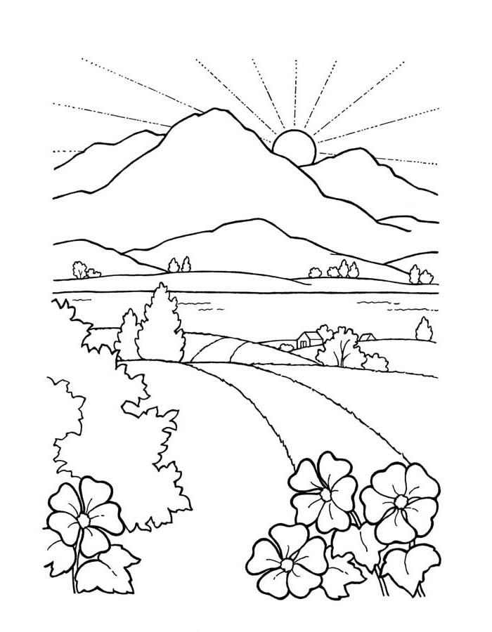 paisagem para colorir 10