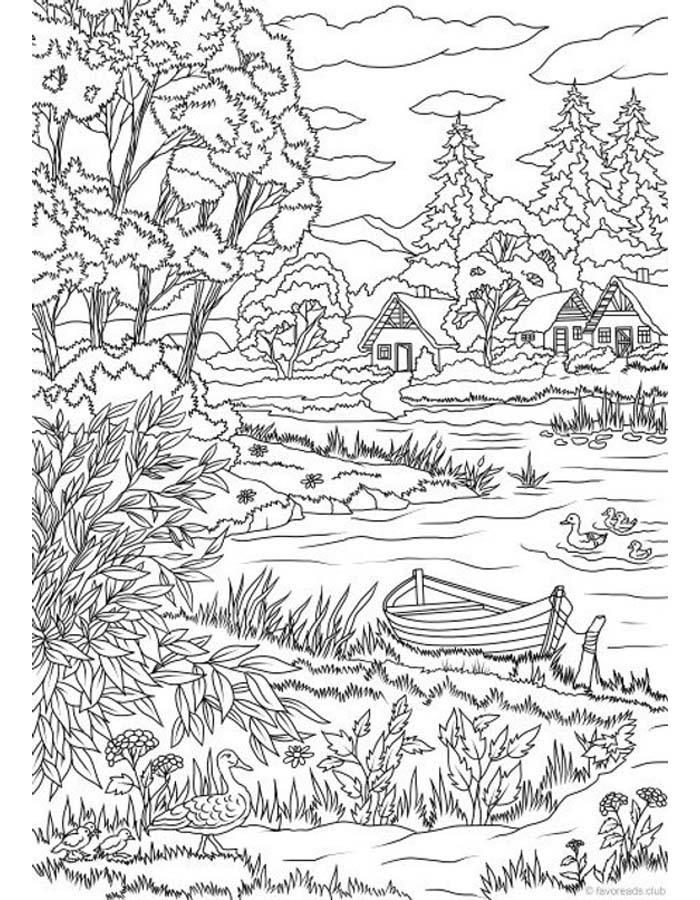 paisagem para colorir 17