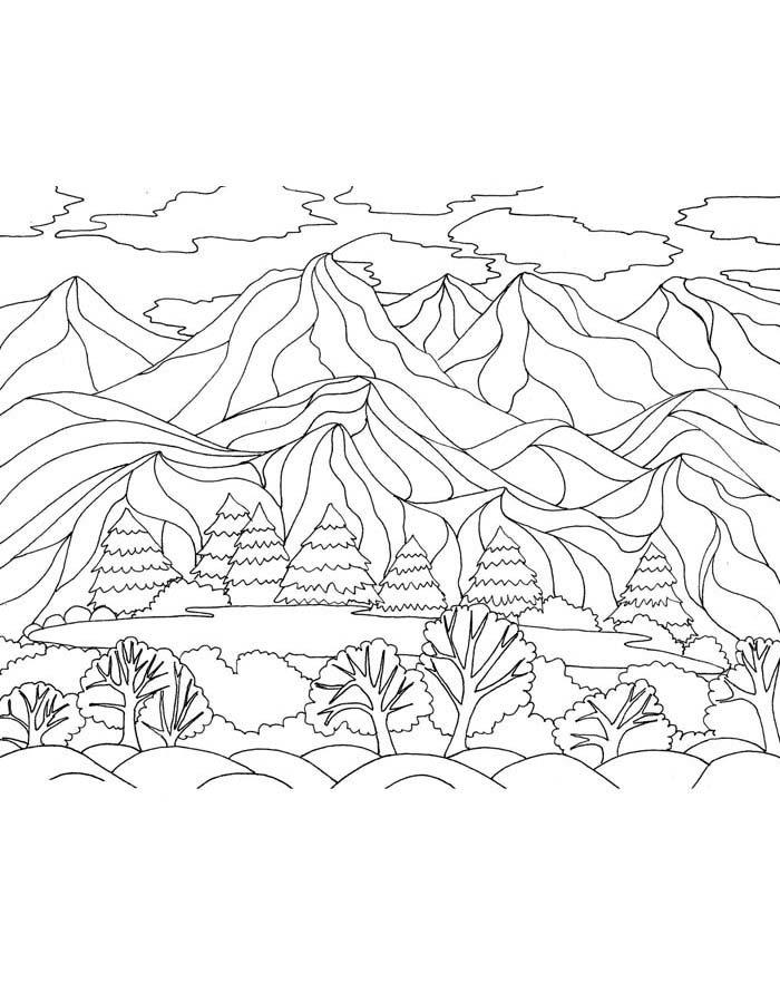 paisagem para colorir 23