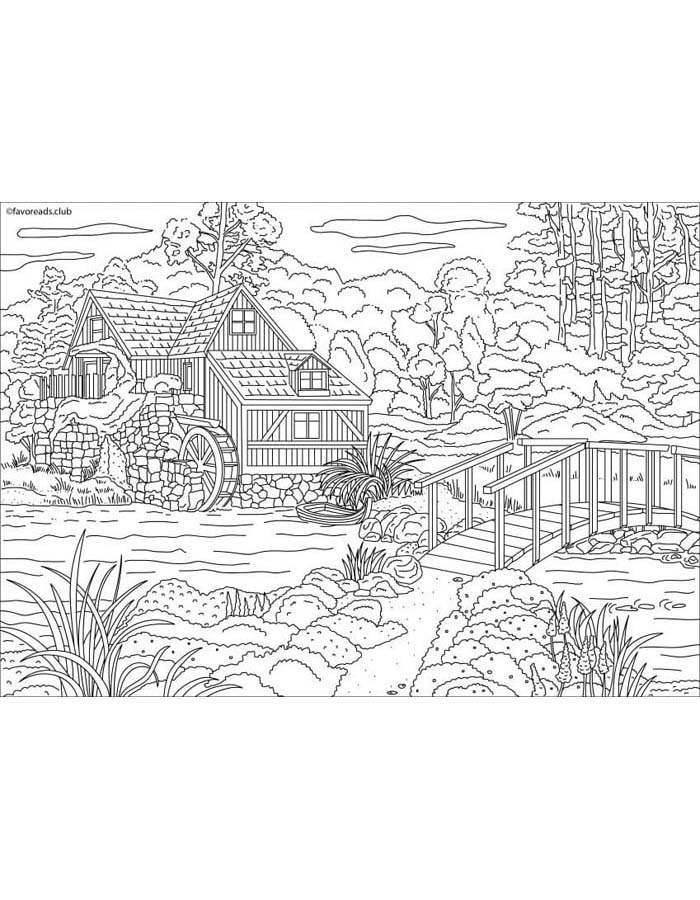 paisagem para colorir 32