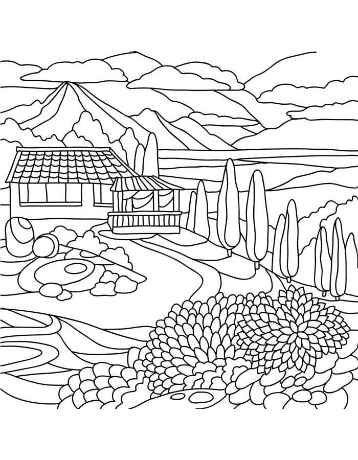 paisagem para colorir 33