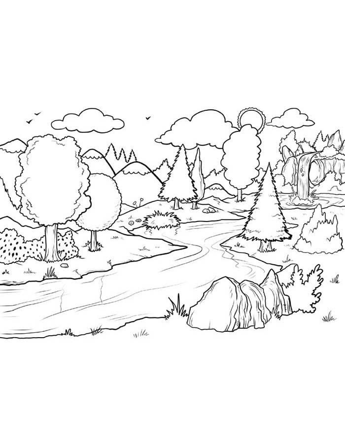 paisagem para colorir 35