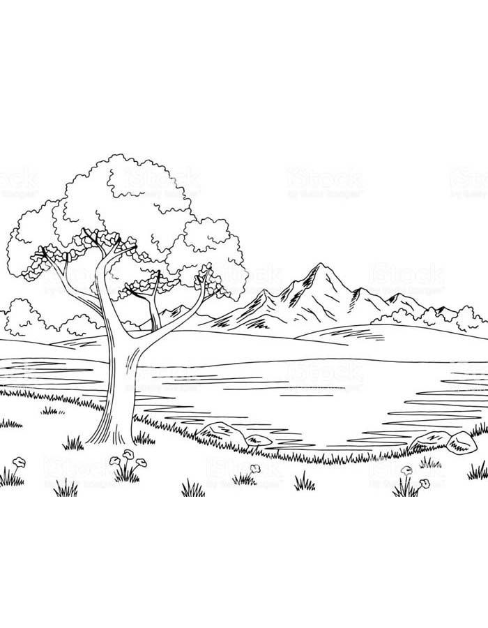 paisagem para colorir 42
