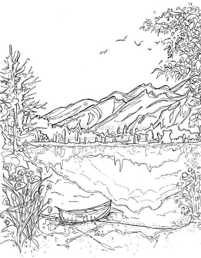 paisagem para colorir 44