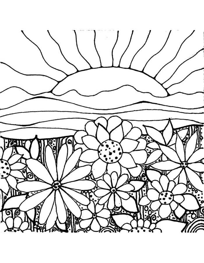paisagem para colorir 6