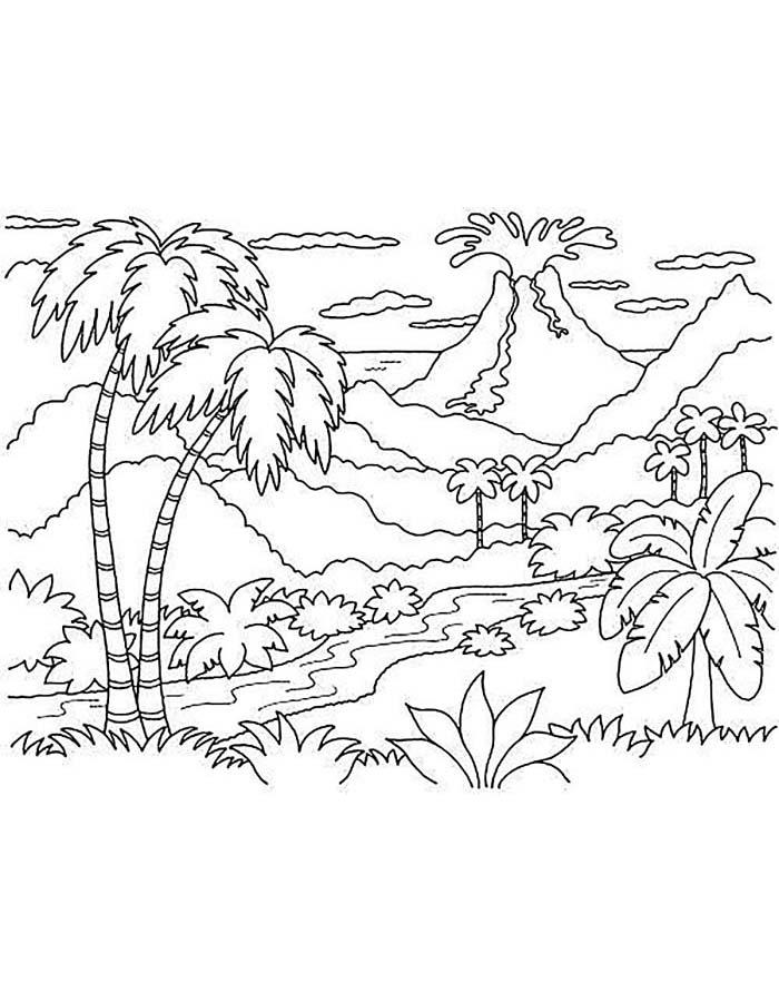 paisagem para colorir 61