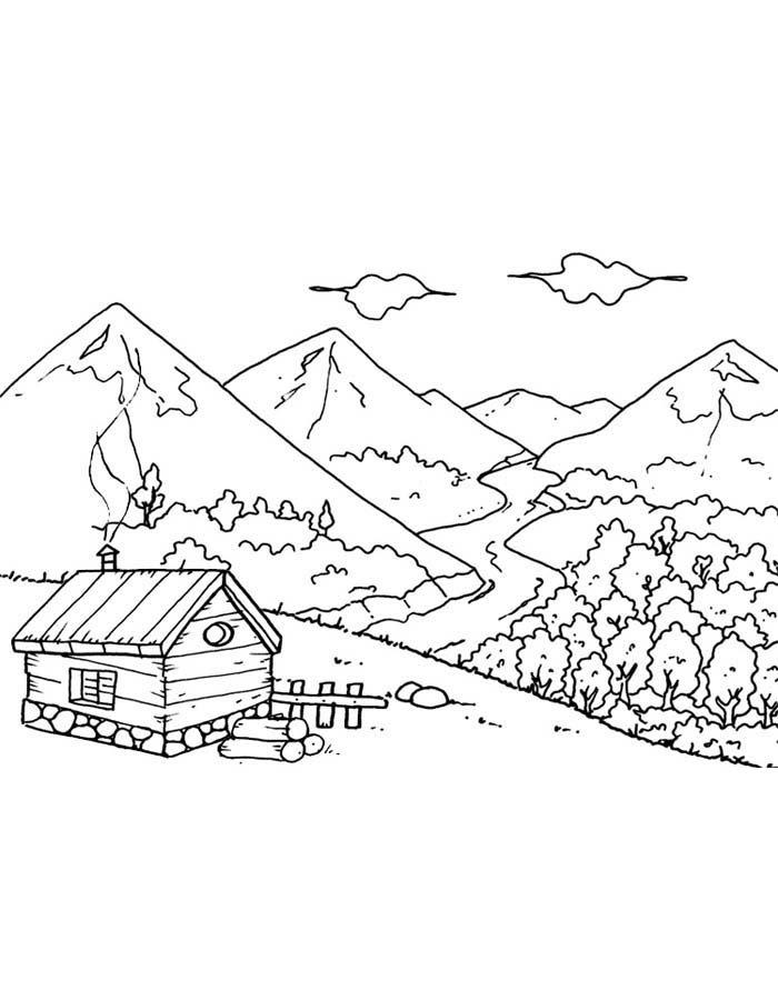 paisagem para colorir 73