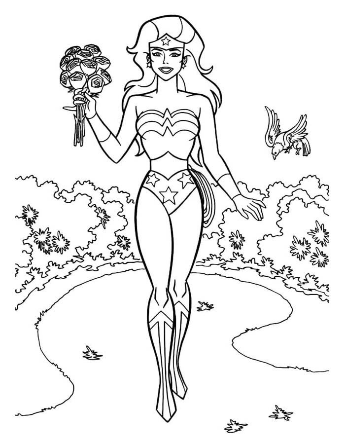 mulher maravilha para colorir 10